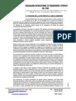 INFORME POLÍTICO Y POSICIÓN DE LA CITE FRENTE AL NUEVO GOBIERNO