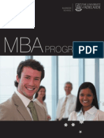 University of Adelaide MBA Program Brochure