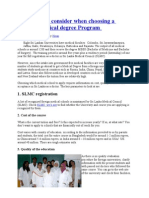 Ten Things to Consider When Choosing a Foreign Medical Degree Program