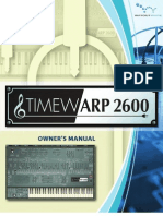 Time Warp 2600 Manual