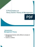 Gantt Theory