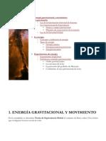 Energía gravitacional y movimiento