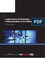 Legal Issues of Corporate  CommunicationOnlineWorldSummary