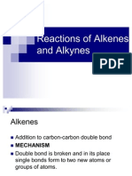 Reaction of Alkenes and Alkynes