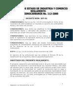 REGLAMENTO 307-01, Reglamento de aplicaciòn de la Ley 112-00 Tributaria de Hidrocarburos