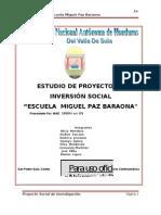 Informe Final de Proyecto Social - Proyecto Escuela Paz Barahona[1]