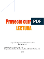 Proyecto curricular lectura
