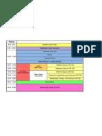 Timetable Final Monday