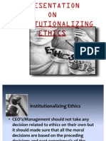 Institutionalizing Ethics