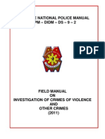 Field Manual on Investigation of Crimes of Violence and Other Crimes