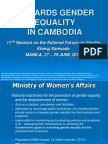 Towards Gender Equality in Cambodia