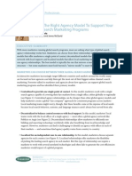 Finding Right Agency Model to Support Global