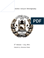 Afghanistan Analyst Bibliography 2011