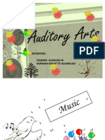 Music as Auditory Art