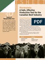 Beef Hormones Factsheet