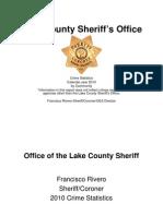 Lake County Sheriff's 2010 Crime Stats