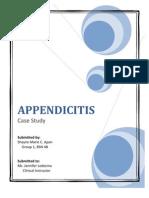 Appendicitis Case Study