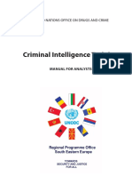 Criminal Intelligence Training - UN Analyst Manual