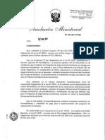 Resolución Ministerial Nº 184-2011-PCM