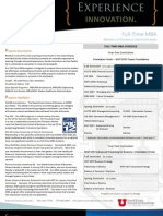 UofU Full-Time MBA Info Sheet