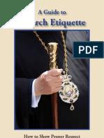 Church Etiquette Booklet