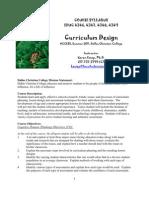 Syllabus - Curriculum Design