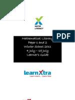 Maths Lit Learner Guide July 2011