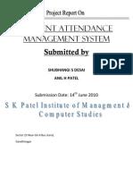 34884404 Student Attendance Management System