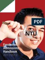 Freshmen Admissions Hbk2011