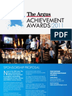 Argus Achievement Awards Sponsorship Proposal 2011