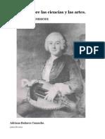 Discurso sobre las ciencias y las artes.  Jean Jaques Rousseau