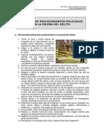 CARTILLA DE PROCEDIMIENTOS POLICIALES A SEGUIR EN LA ESCENA DEL DELITO