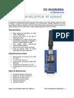 Transmisor RF 433MHz