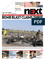 Bomb blast claims three