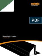 Catnic Lintel Price List 1st March 2011 Web