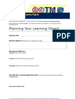 Planning Your Learning Object
