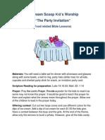 "The Sundae Scoop ""The Party Invitation"" Lesson 5 Kidz Worship"