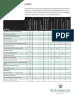 Non Profit Policy Checklist