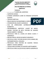 Glosario de Terminos y Contextualizacion Del Area Quirurgica