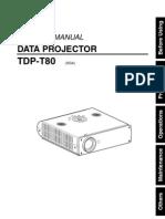 Toshiba Tdp t80 Manual