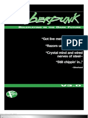 Cyberpunk V3 | Leisure Activities | Tabletop Games