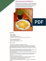Pastel de Forno com Massa de Requeijão