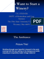 So You Want to Start a Winery