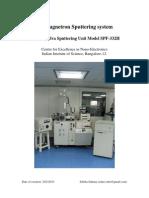 RF Sputtering Manual 2010