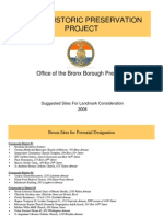 Report of the Bronx Borough President's Historic Preservation Task Force