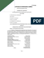 Ley_29626 Ley Gral Presupuesto