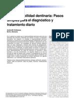 Hipersensibilidad dentinaria- Pasos simples para el diagnóstico y tratamiento diario