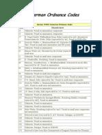 German Waffenamt and Ordnance Codes