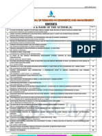 Abstracts of Vol-2 Issue-6 of International Journal of Research in Commerce & Management