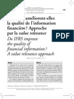 Les IFRS améliorent-elles